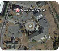 Google map Location of Sevierville City Hall