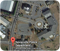 Google map Location of Sevierville Police Department