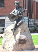 Dolly Parton Statue in front of Sevier County Courthouse in Sevierville, Tennessee