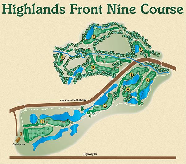 Highlands Front Nine Course